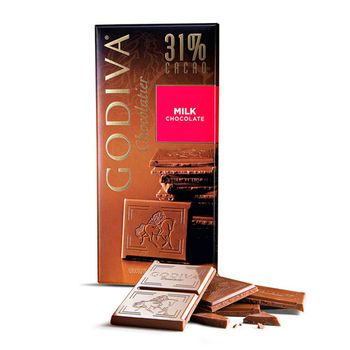 Godiva 31% Cacao Milk Chocolate Tablet 100g