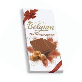 The Belgian Milk with Salted Caramel Chocolate Bar, 100g