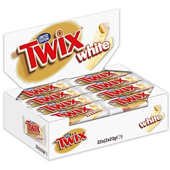 Mars Twix White Chocolate Bar 46 g - Box of 32pcs