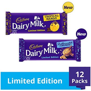 Cadbury Dairy Milk Seasonal Flavours Limited Edition Pack, 432g (Pack of 12)
