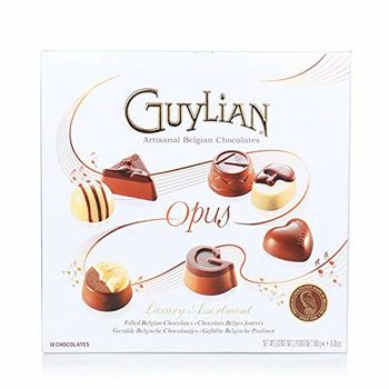 Guylian Belgian Chocolates Opus Luxury Assortment Gift Box, 180g and Silver Plated Coin
