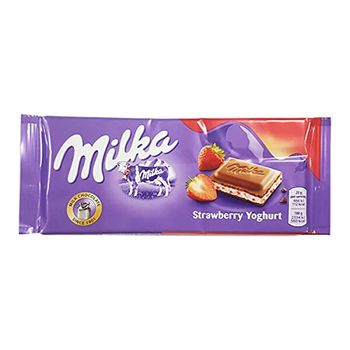 Milka Strawberry Chocolate Bar 100g