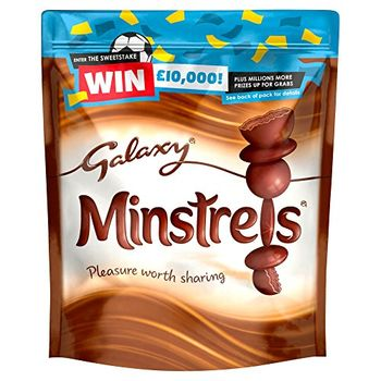 Mars Galaxy Minstrels Smooth and Creamy Chocolate Pouch, 118 g