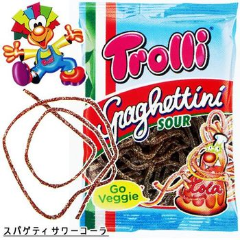 Trolli Spaghettini Sour Cola Gummy Candy Packet, 100g