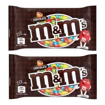 M&M'S Milk Chocolate Candy ( 45 Grams*Pack Of 2)