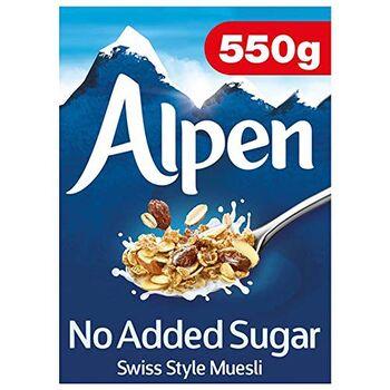 Alpen Swiss Style Muesli, No Added Sugar, 550 g