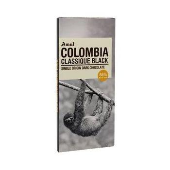 Amul Colombia Classique Black Chocolate 125gm