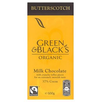 Green & Blacks Organic ButterScotch Milk Chocolate 37%Cocoa, 100g