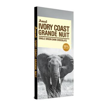 Amul Ivory Coast Grande Nut Single Origin Dark Chocolate Bars  (125 g)