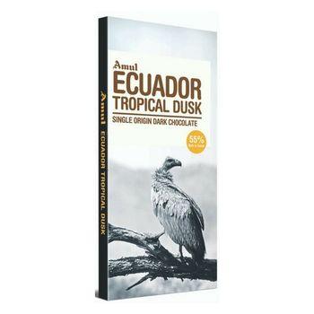 Amul Ecuador Tropical Dusk Single Origin Dark Chocolate Bars  (125 g)