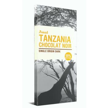 Amul Tanzania Chocolate Noir Single Origin Dark Chocolate Bars  (125 g)