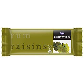 Cadbury Temptation Rum and Raisin Chocolate, 72g (Pack of 6)