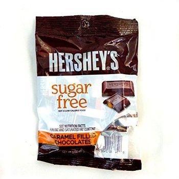 hersheys Sugar-free Caramel Filled Chocolates, 85 g