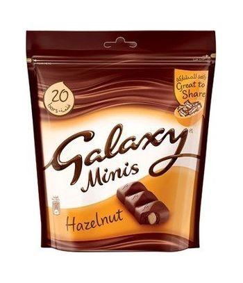 Galaxy Minis Hazelnut 20 bars 250 gms