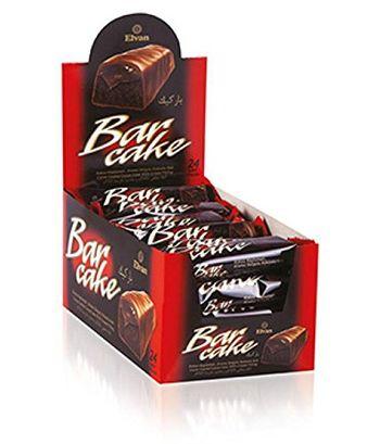Elvan Turkey Dark Chocolate Cocoa Coat Cake Bars With Cream filling 480 gm