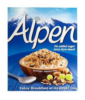 Alpen No Added Sugar Swiss Style Muesli 500g