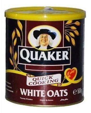 Quaker White Oats Tin, 500g