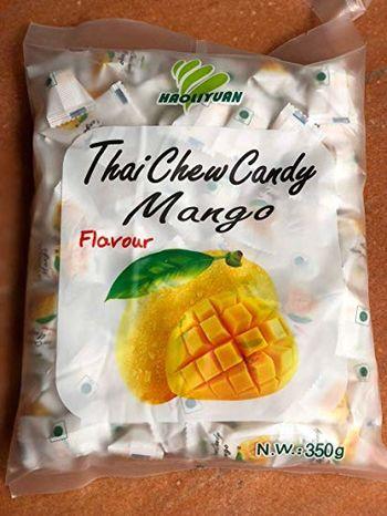 Thai Chew Mango Toffee Gummy Milk Fruit Candy 360G (100 Pieces)
