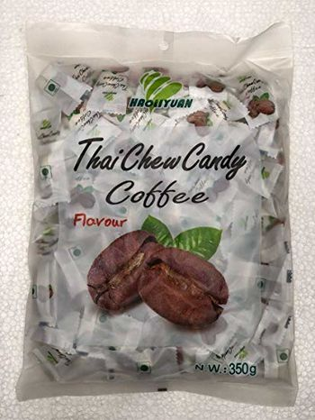 Thai Chew Coffee Flavored Toffee Gummy Milk Fruit Candy 360G (100 Pieces)