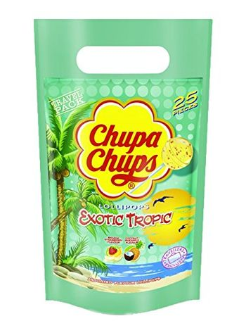 Chupa Chups Exotic Tropic Assorted Flavour Lollipops, 300g