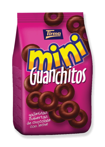 Tirma Made in Spain Milk Chocolate Coated Mini Biscuit Guanchitos 125g