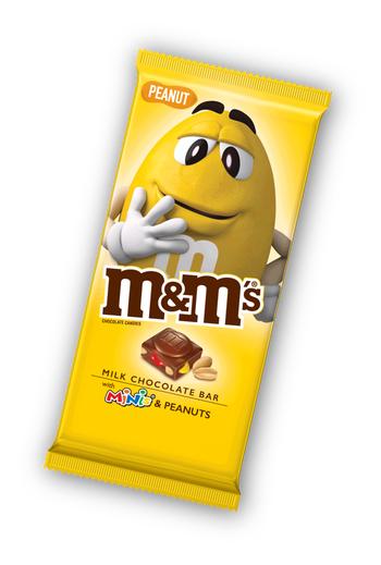 M&Ms Peanut Chocolate Bar 100g