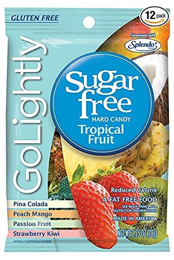 GoLightly Tropical Fruit Sweetened with Splenda Hard Candies 78 gm