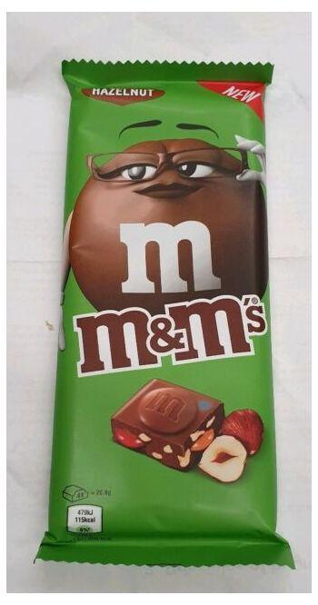 M&Ms Hazelnut Chocolate Bar 100g