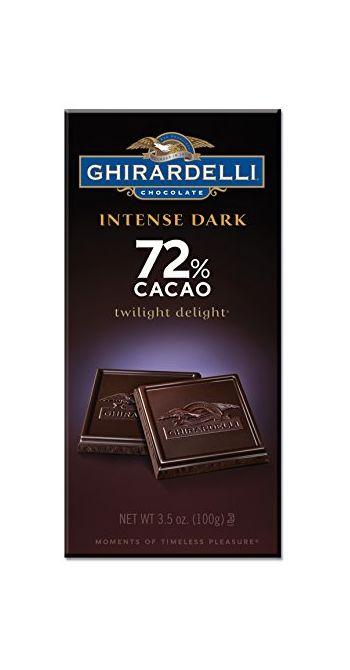 Ghirardelli Intense Dark 72% Cacao Twilight Delight Chocolate Bar, 100g