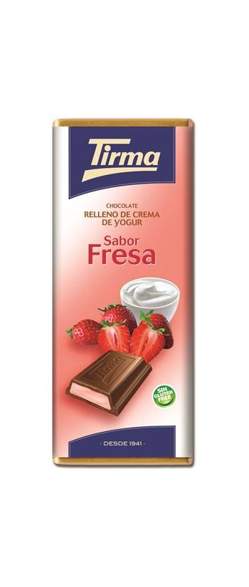 Tirma Made in Spain Cream Filled Chocolate Strawberry 95g