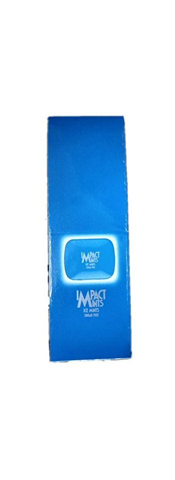 Impact Mints Ice Mints Sugar Free Blue Pack Of 12 Metal Containers